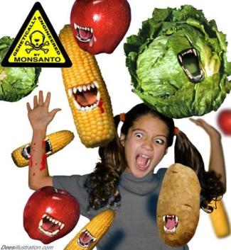Alimentos Genéticamente Modificados fabricados para ti por Monsanto